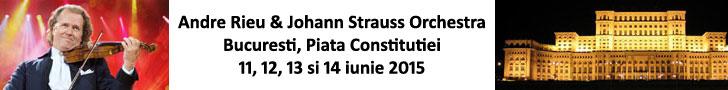 Concerte Andre Rieu la Bucuresti, 11, 12, 13 si 14 iunie 2015