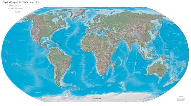 Harta Geografica A Lumii